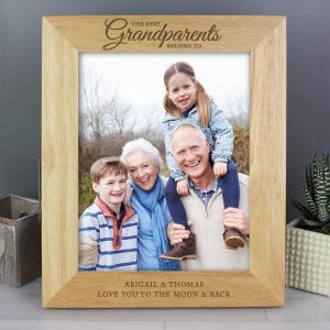 Personalised 'The Best Grandparents' 10×8 Wooden Photo Frame