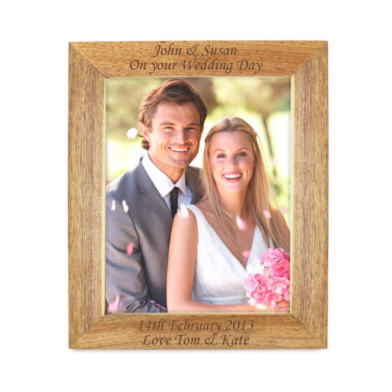 Personalised 10×8 Wooden Photo Frame