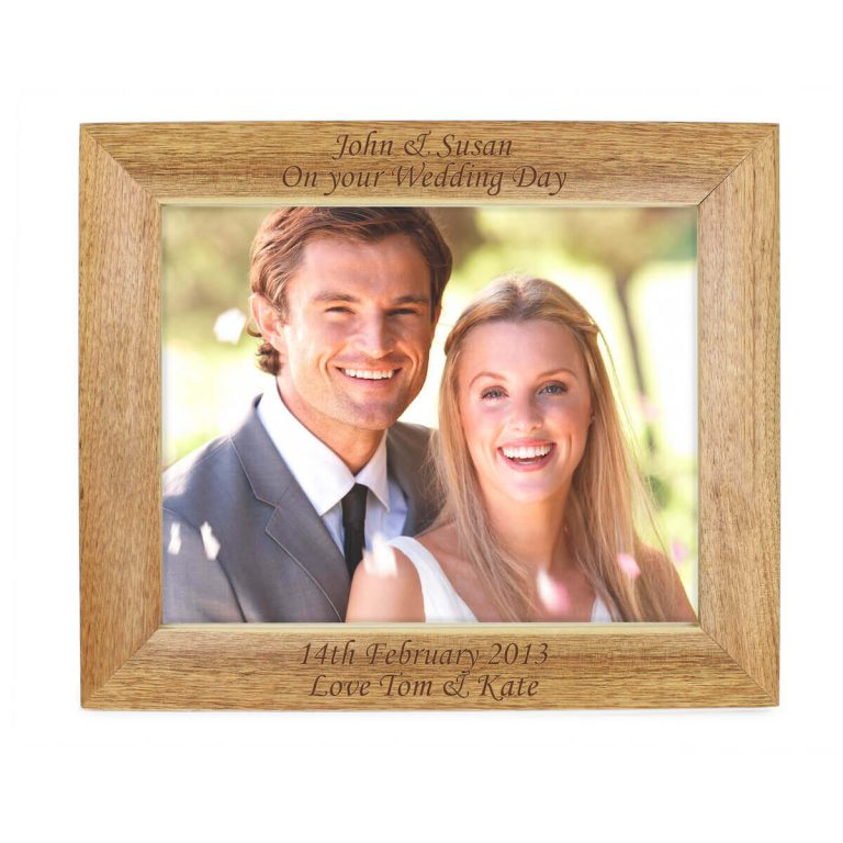 Personalised 10×8 Landscape Wooden Photo Frame