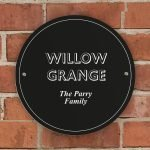 Personalised Black House/Garden Sign