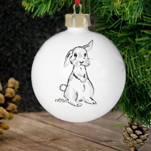 Personalised Bunny Bauble