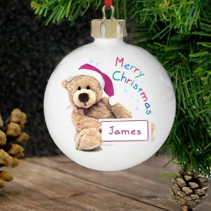 Personalised Teddy Christmas Bauble
