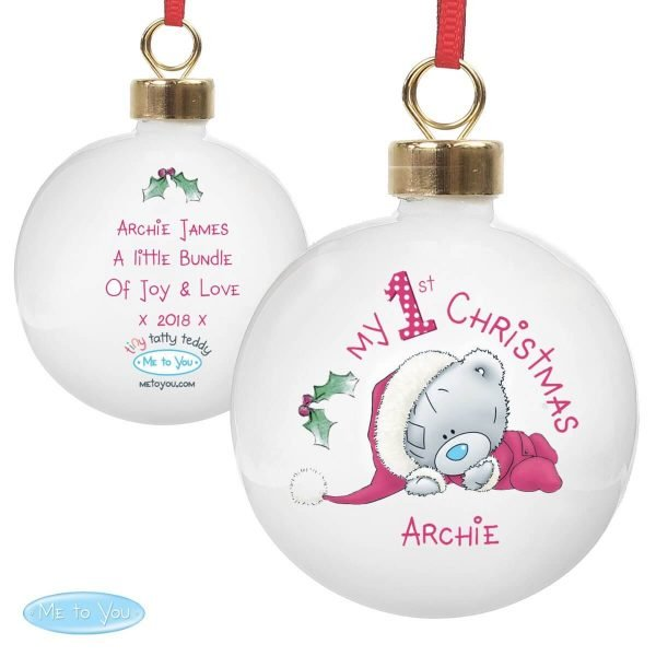 Personalised Me To You My 1st Christmas Bauble