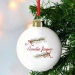 Personalised Seasonal Sprig Bauble