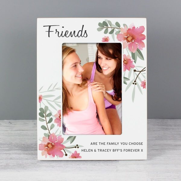 Personalised Floral Sentimental 6×4 Wooden Photo Frame