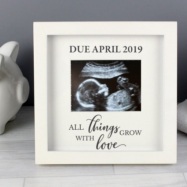 Personalised All Things Grow Baby Scan Frame