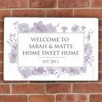 Personalised Soft Watercolour Metal Sign