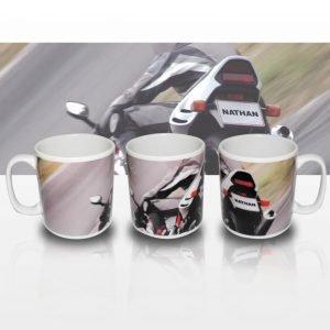 Personalised Motorbike Mug
