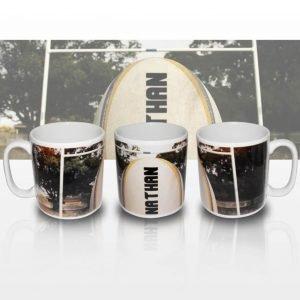 Personalised Rugby Ball Mug