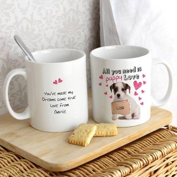 Personalised Puppy Love Mug