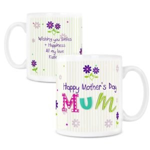 Personalised Patchwork Flowers Mug