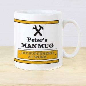 Personalised Man At Work Mug