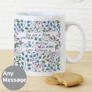 Personalised Botanical Mug