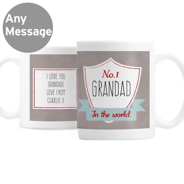 Personalised No.1 Shield Mug