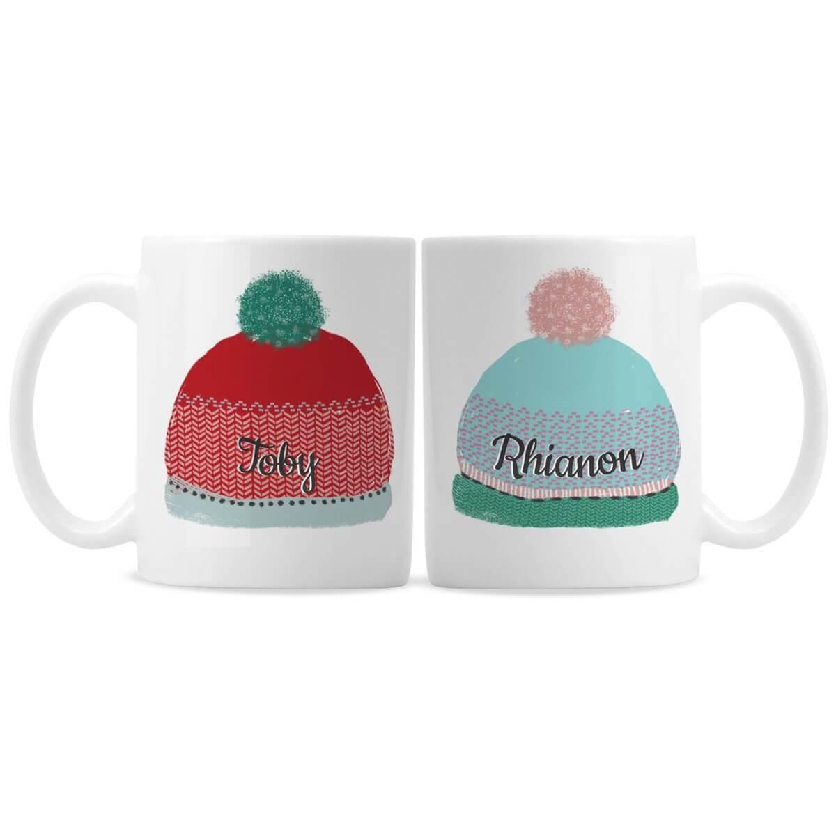 Personalised Woolly Hats Mug Set