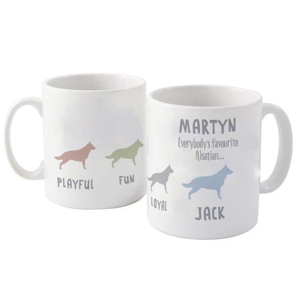 Personalised German Shepherd Dog Breed Mug