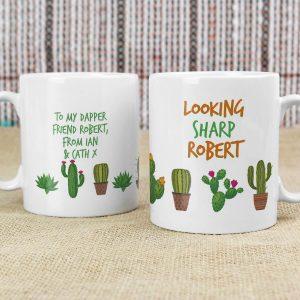 Personalised Cactus Mug