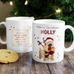 Personalised Boofle Christmas Reindeer Mug