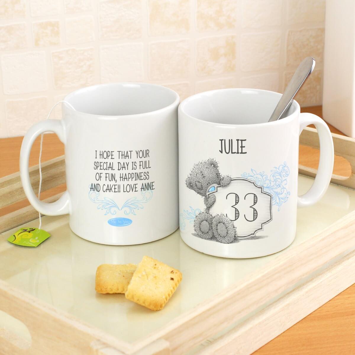 Personalised Me to You Birthday Big Age Mug