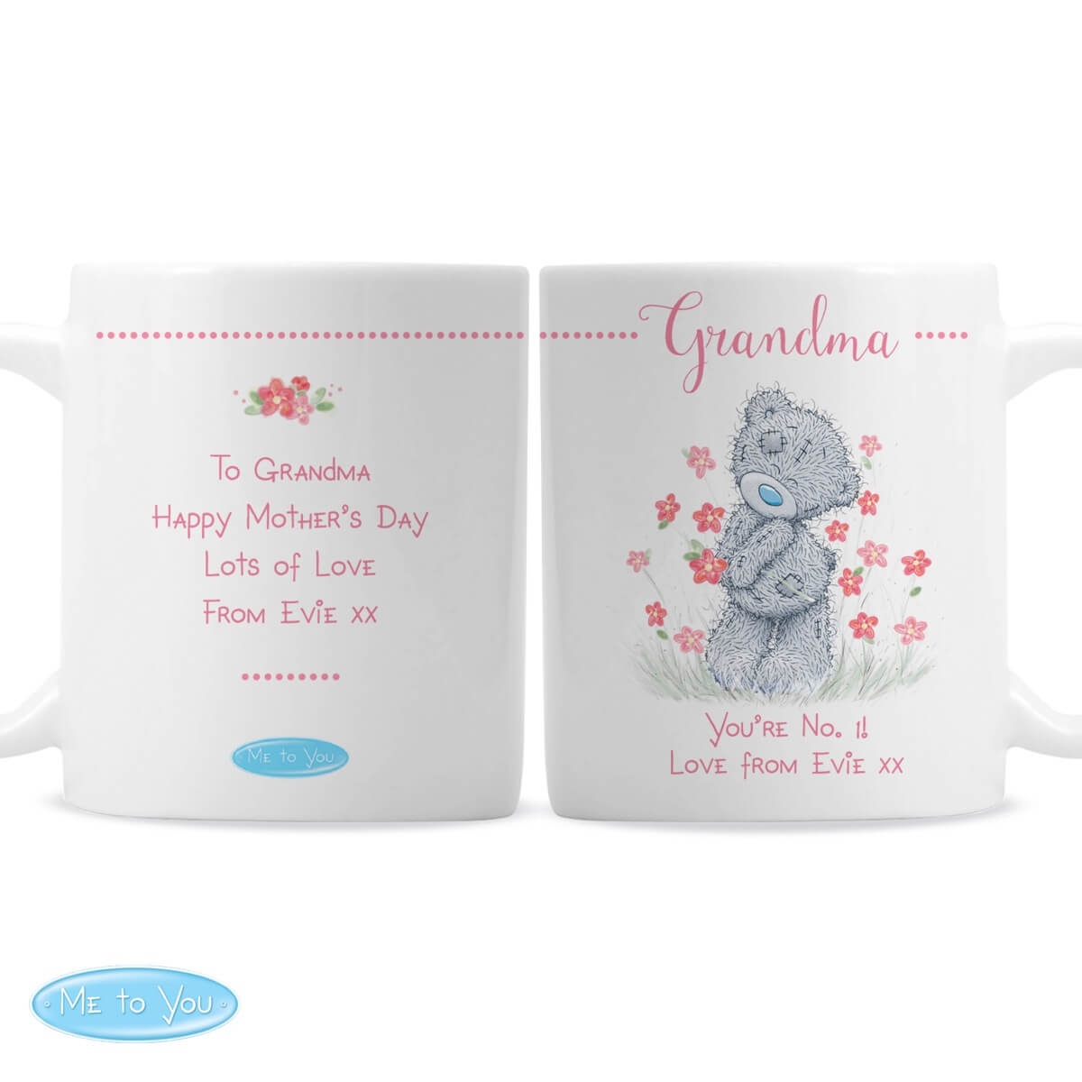 Personalised Me to You Floral Mug