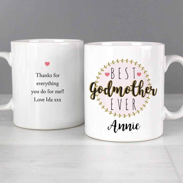 Personalised 'Best Godmother' Mug