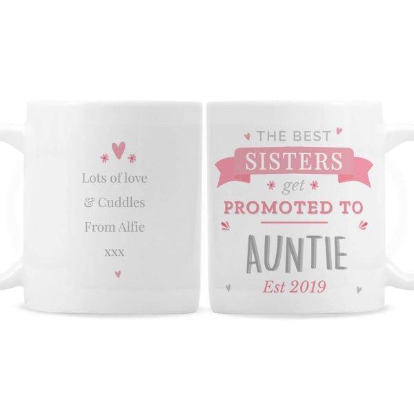 Personalised Pink Promoted To Mug