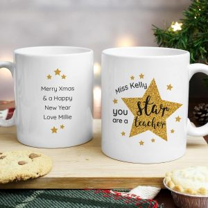 Personalised Star Teacher's Mug
