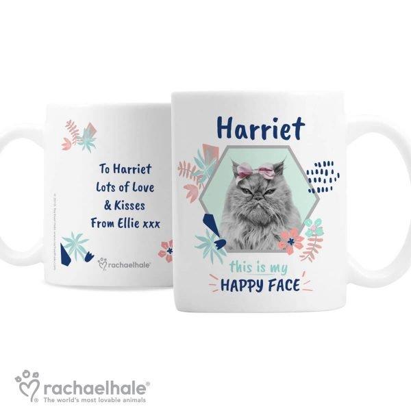 Personalised Rachael Hale 'Happy Face' Cat Mug