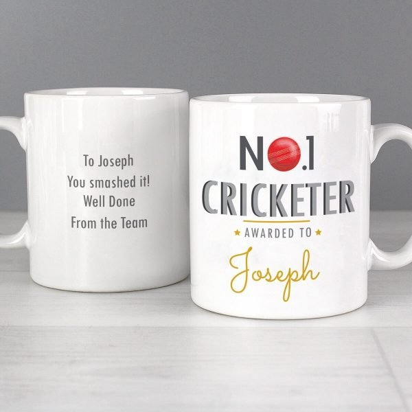 Personalised No.1 Cricketer Mug