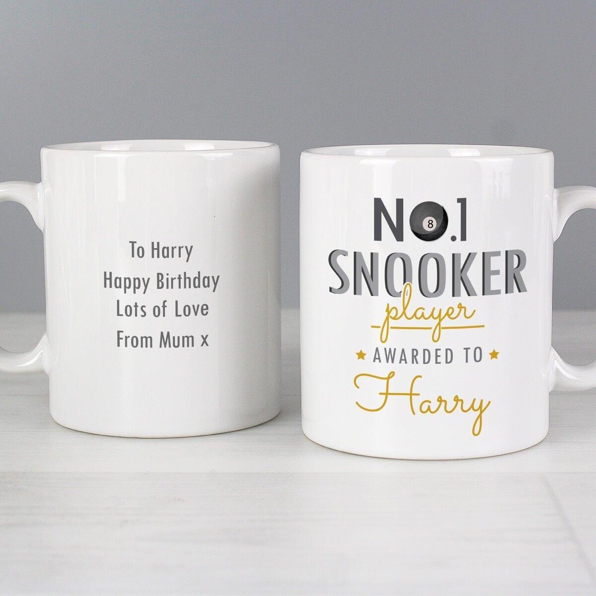 Personalised No.1 Snooker Player Mug