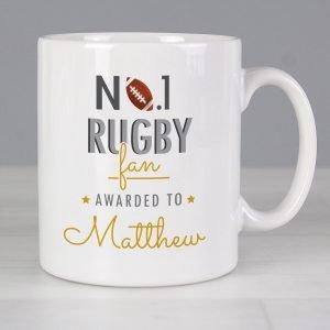 Personalised No.1 Rugby Fan Mug