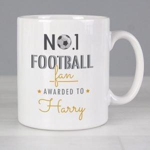 Personalised No.1 Football Fan Mug