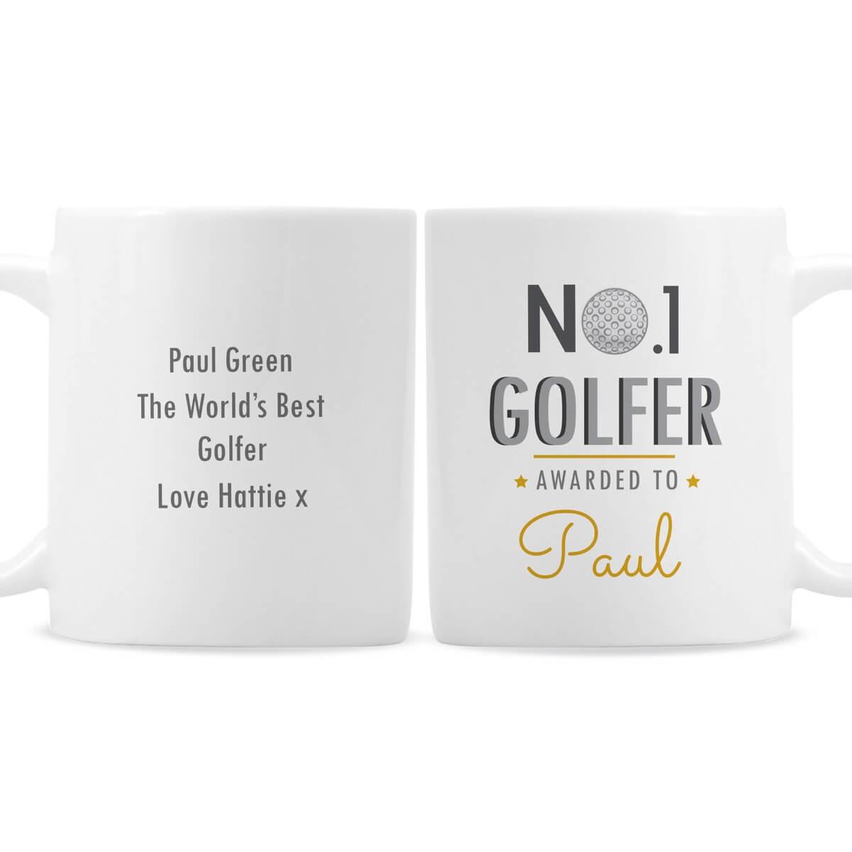 Personalised No.1 Golfer Mug