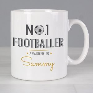 Personalised No.1 Footballer Mug