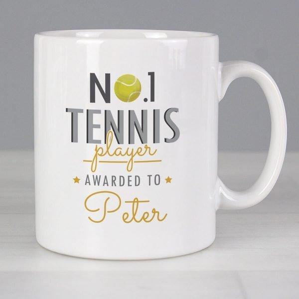Personalised No.1 Tennis Player Mug