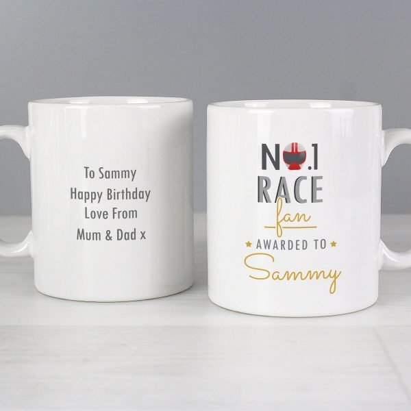 Personalised No.1 Race Fan Mug