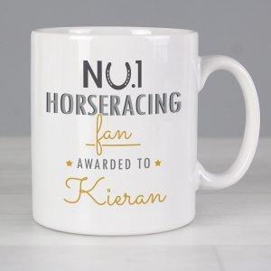 Personalised No.1 Horseracing Fan Mug