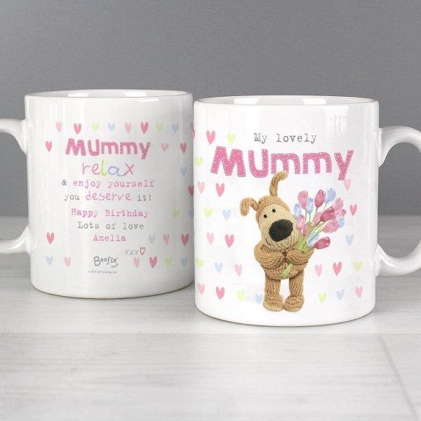 Personalised Boofle Birthday Flowers Mug