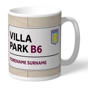 Personalised Aston Villa FC Street Sign Mug