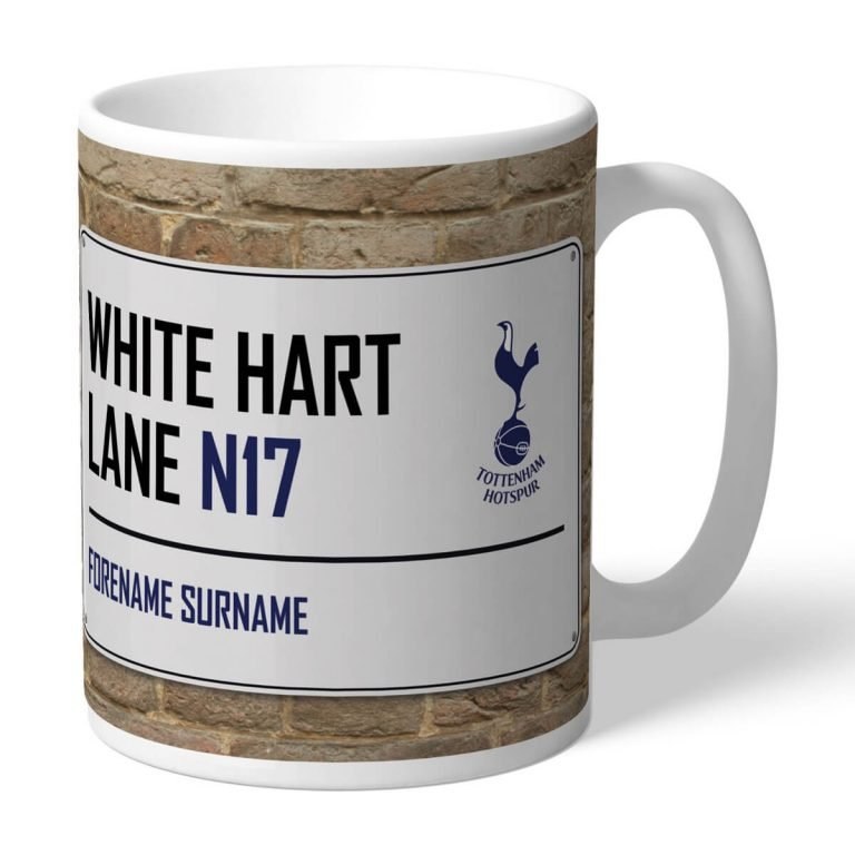 Personalised Tottenham Hotspur FC Street Sign Mug