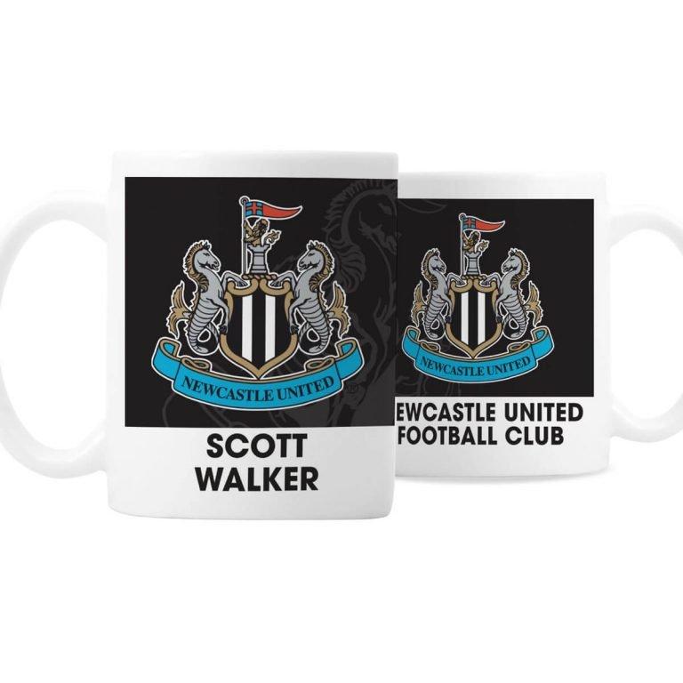 Personalised Newcastle United FC Bold Crest Mug