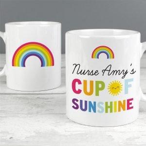 Personalised Rainbow Cup of Sunshine Mug