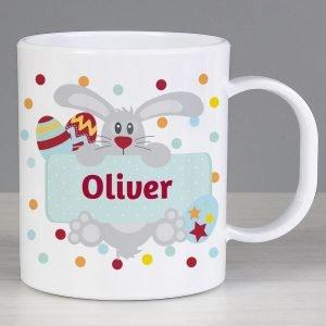 Personalised Easter Bunny Spotty Slim Mug