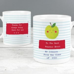 Personalised Apple for the Teacher Mug