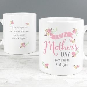 Personalised Floral Bouquet Mothers Day Mug
