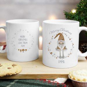 Personalised Scandinavian Christmas Gnome Mug