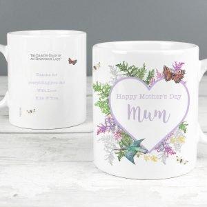 Personalised Country Diary Botanical Mug