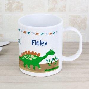 Personalised Dinosaur Plastic Mug