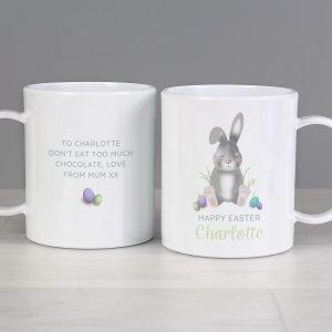 Personalised Easter Bunny Plastic Mug
