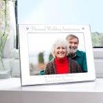 Personalised Diamond Anniversary 7×5 Landscape Photo Frame